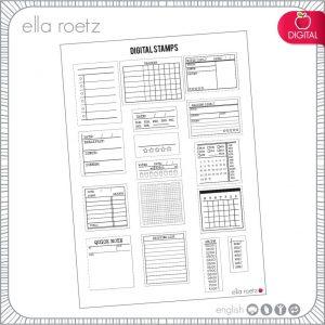 Planner Digital Stamp