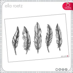Feathers - Digital Stamp