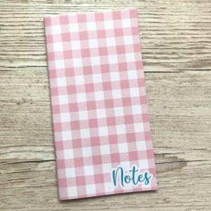 Pink Gingham - Travelers Notebook