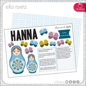 Hanna - Afrikaans